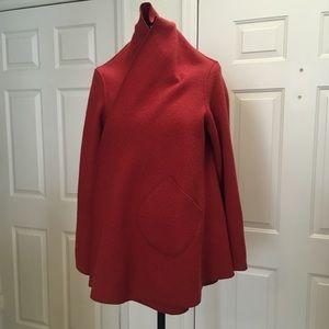 Anthropologie CL Artesian Boiled Wool Cape Jacket
